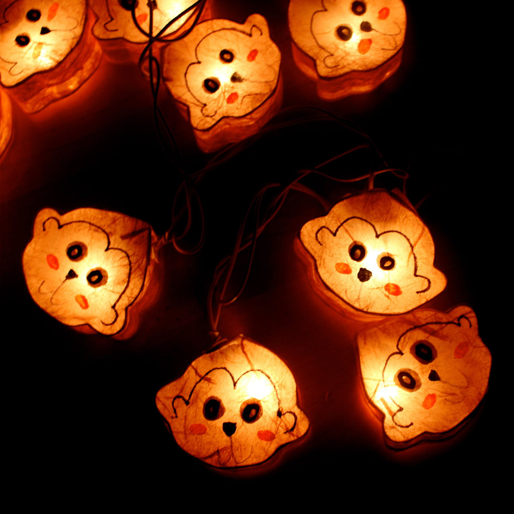Monkey Animal Shaped Handmade Mulberry Paper String Light Lanterns | DOTOLY