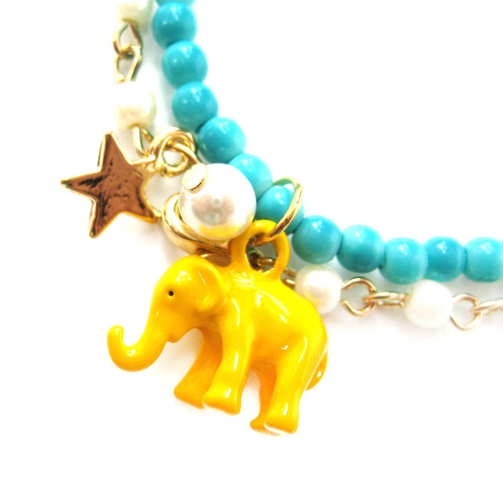 elephant-charm-animal-stretchy-bracelet-in-bright-yellow