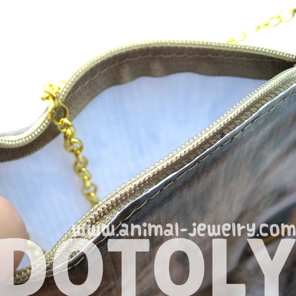 Grey Tabby Kitty Cat Head Shaped Vinyl Animal Themed Cross Shoulder Bag | DOTOLY | DOTOLY