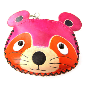 Mouse Animal Shaped Handmade Coin Purse with Key Split Ring Holder | DOTOLY