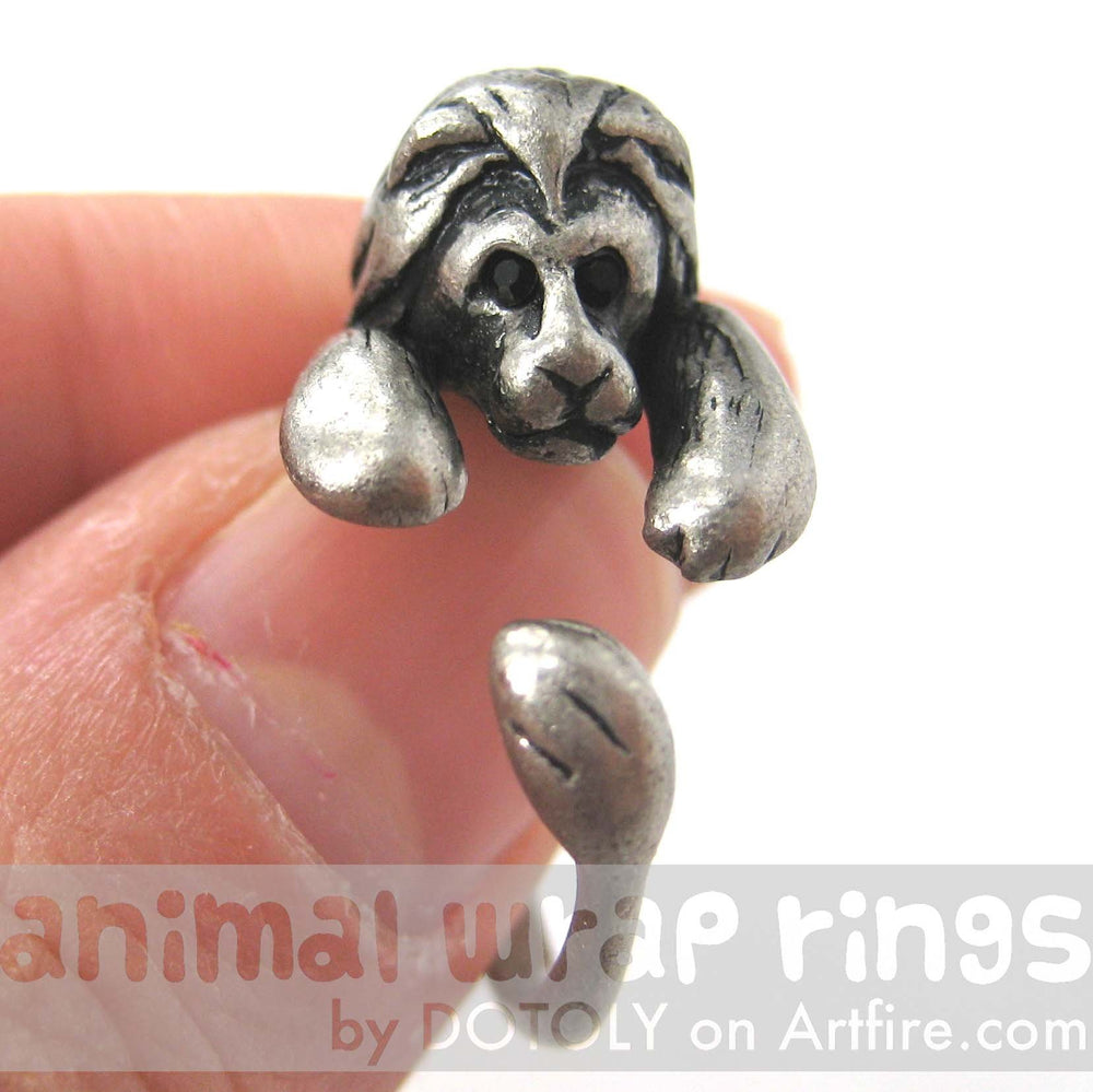 Realistic Lion Animal Wrap Around Ring in Silver - Sizes 4 to 9 Available | DOTOLY