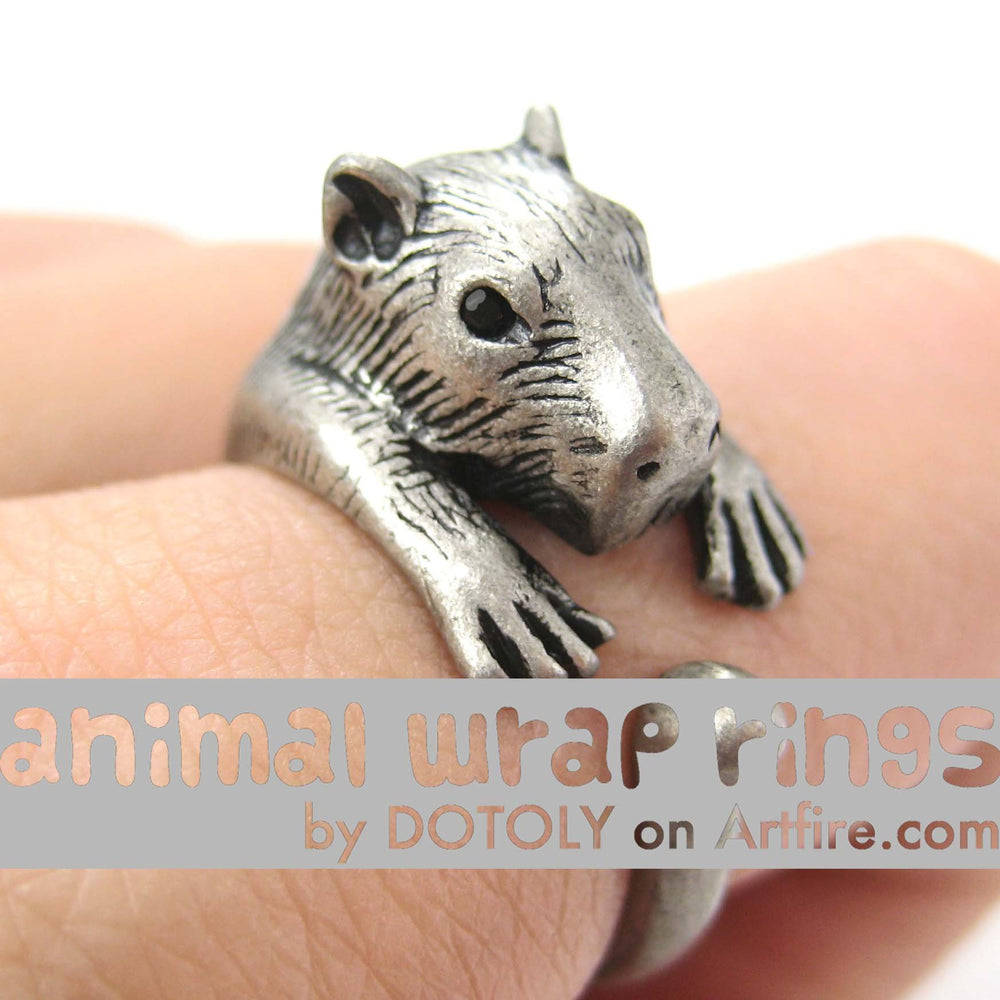 capybara-wombat-animal-ring-silver