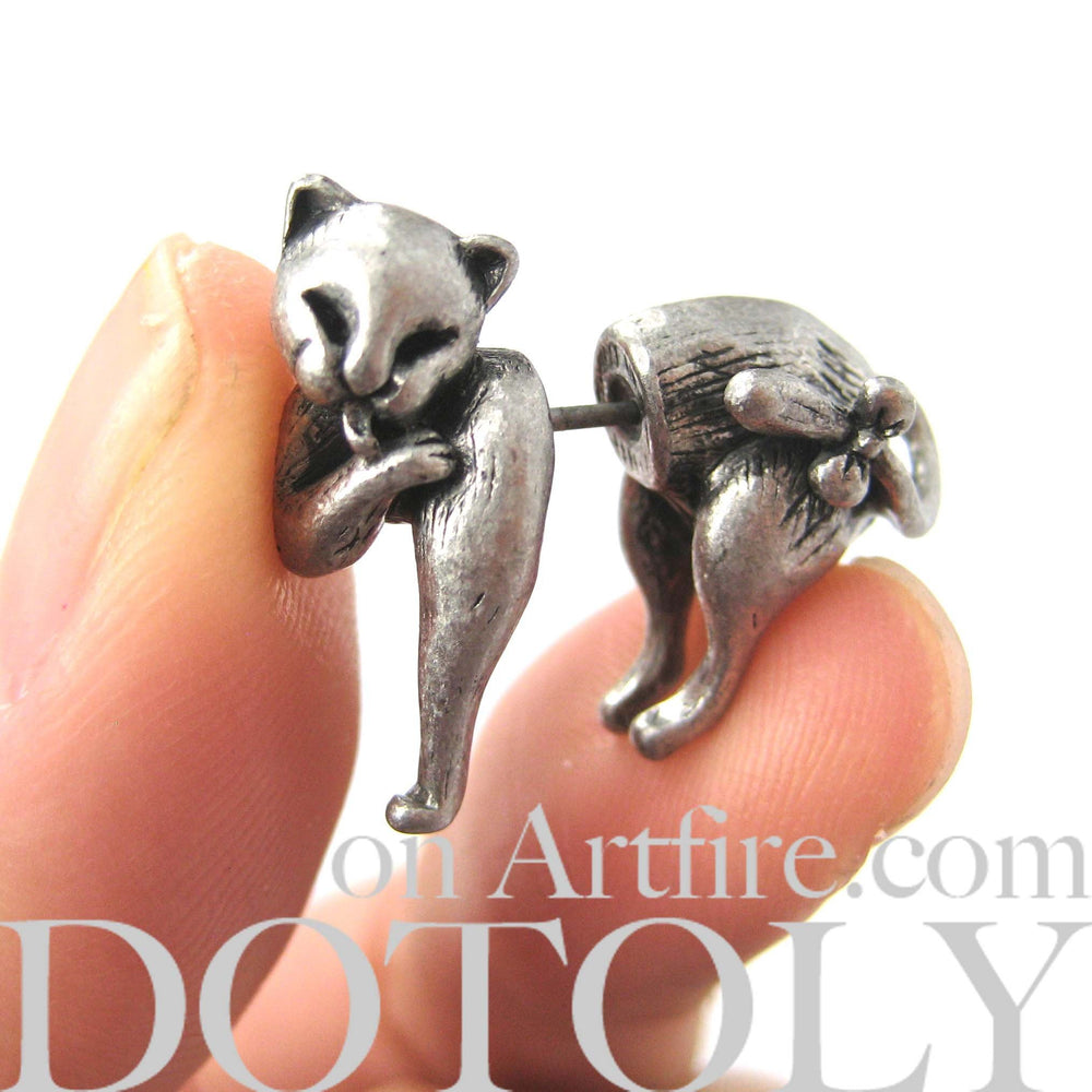 kitty-cat-animal-fake-gauges-silver