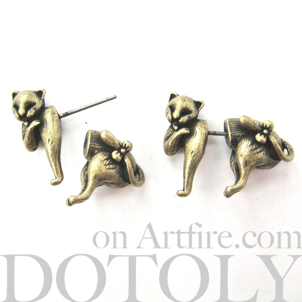 kitty-cat-animal-fake-gauge-earrings-brass-dotoly