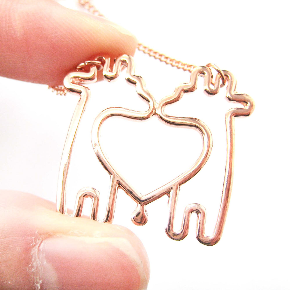 double-giraffe-outline-heart-shaped-animal-pendant-necklace-in-copper