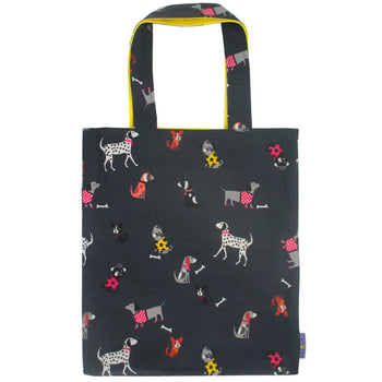 Halloween Puppy Dog Animal Print Reversible Tote Bags for Women