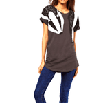 Adorable Animal Inspired Badger Scarf Print Graphic Tee T-Shirt for Women | DOTOLY