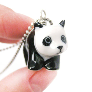 Adorable Baby Panda Bear Porcelain Ceramic Animal Pendant Necklace | Handmade | DOTOLY