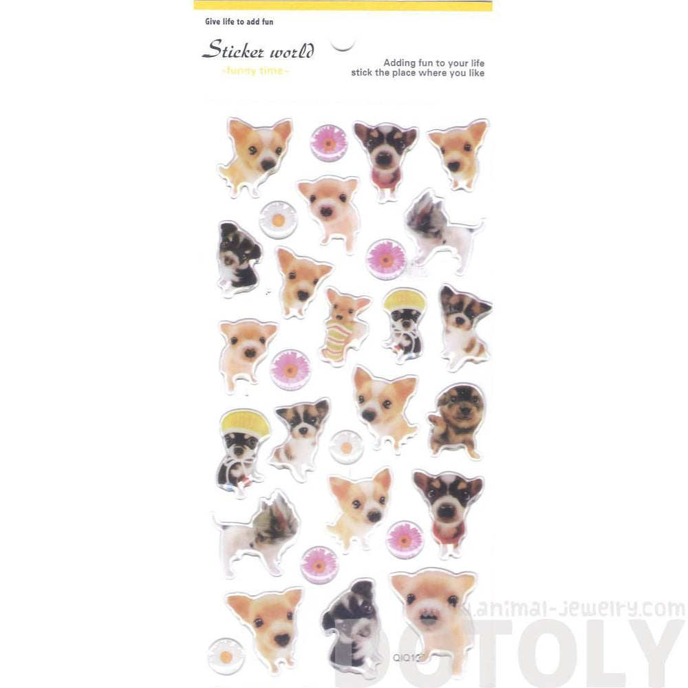 Adorable Baby Puppy Dog Animal Shaped Photo Print Stickers for Scrapbooking and Decorating | DOTOLY
