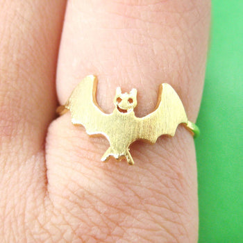 Adorable Bat Shaped Animal Themed Ring in Gold Size 6 | DOTOLY | DOTOLY