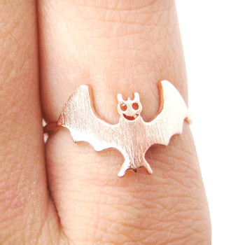 Adorable Bat Shaped Animal Themed Ring in Rose Gold Size 6 | DOTOLY | DOTOLY