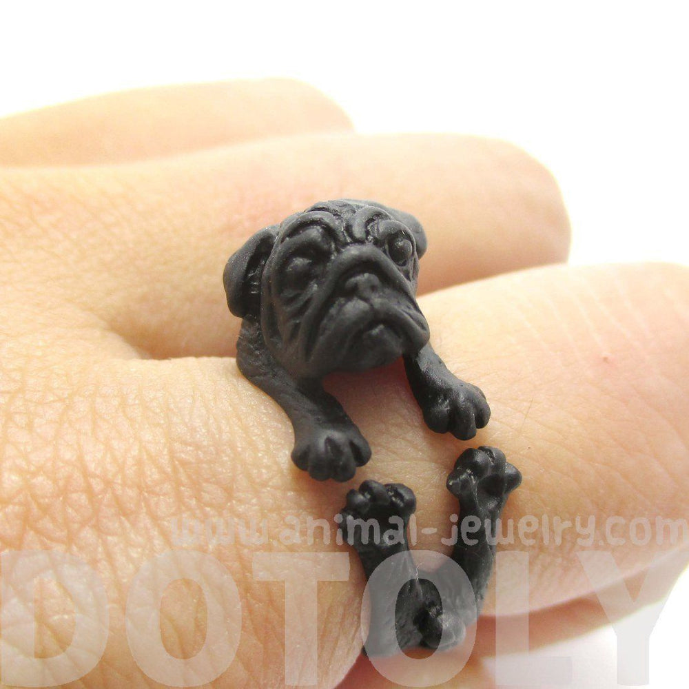 Best Pug Black Adorable Dog - adorable-black-pug-puppy-dog-shaped-animal-wrap-around-ring-sizes-6-to-9-cute_ceb45588-9935-442d-bb3a-b56749123a5d_1000x  Perfect Image Reference_16519  .jpg?v\u003d1507912294