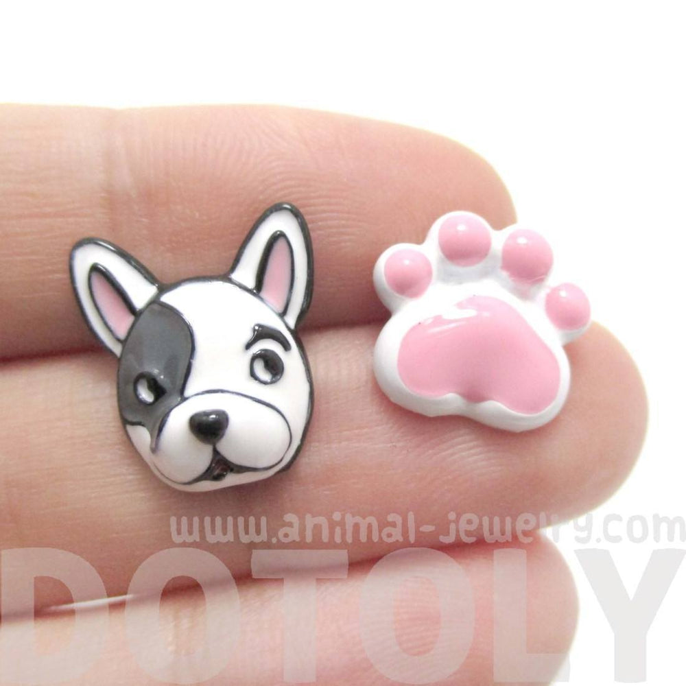 pave dog jewelry stud cz print bling oa puppy paw silvertone cubic animal zirconia ring silver