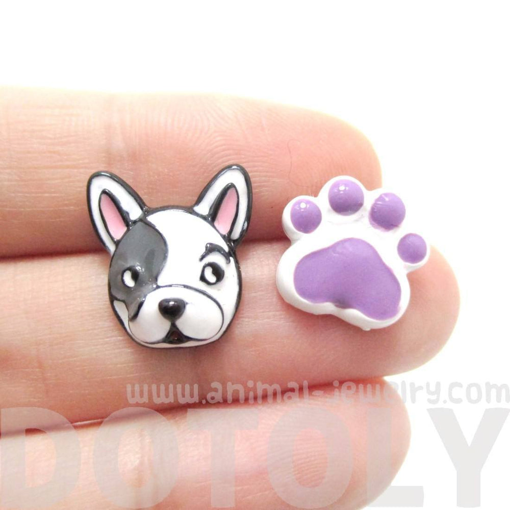 the mexican animal lover earrings collection uk silver solid dog print stud cat jewellery paw