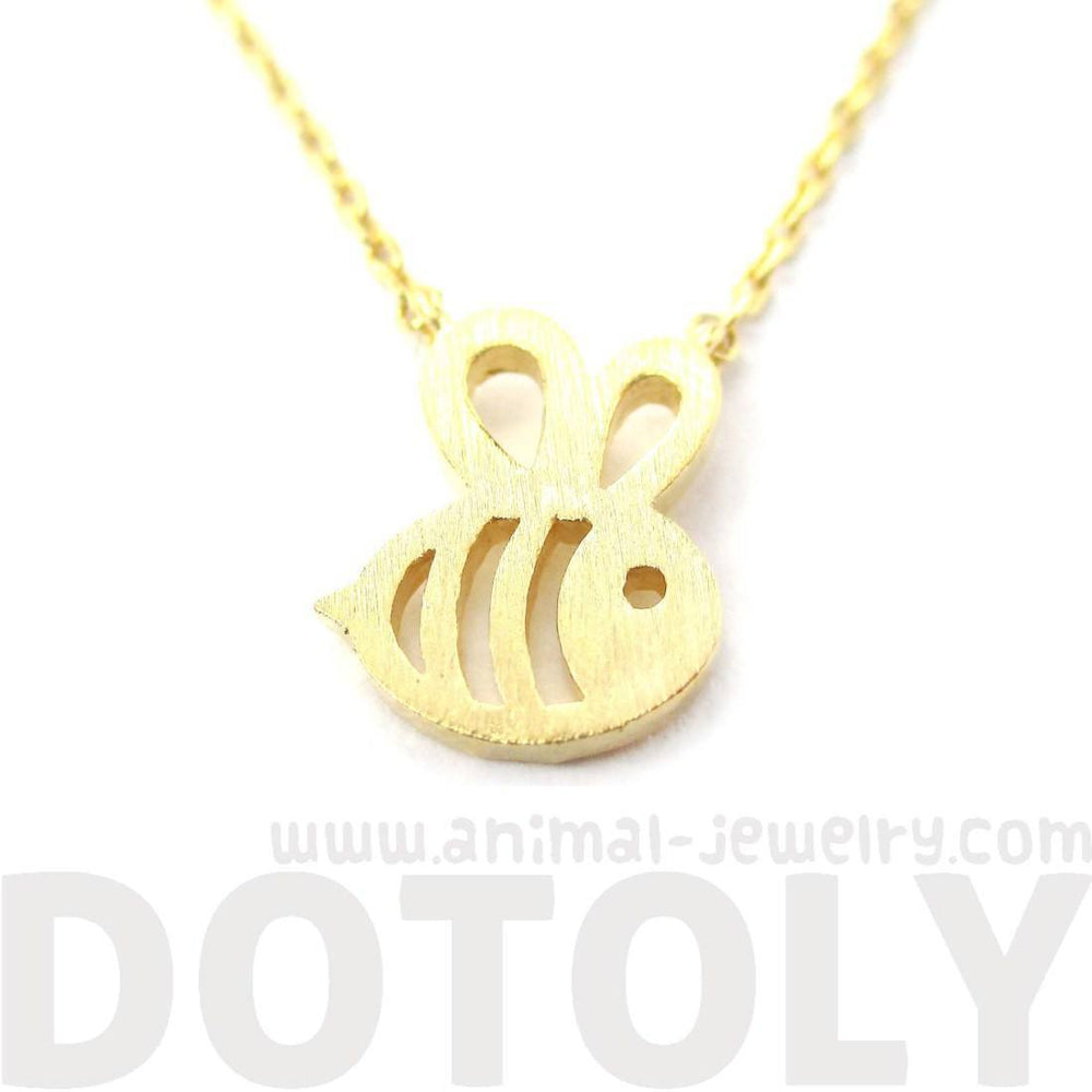 Adorable Bumble Bee Insect Shaped Charm Necklace in Gold | Animal Jewelry | DOTOLY