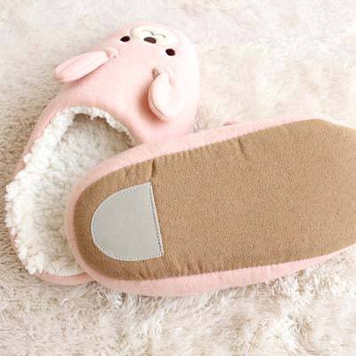 adorable-bunny-rabbit-animal-shaped-slippers-for-women-in-pink
