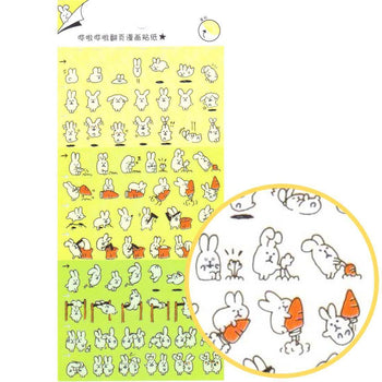 Adorable Bunny Rabbit Cartoon Flip Book Storytelling Stickers | DOTOLY | DOTOLY