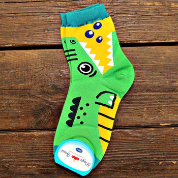 Adorable Crocodile Alligator Bite Socks Animal Shaped Short Cotton Socks for Women | DOTOLY