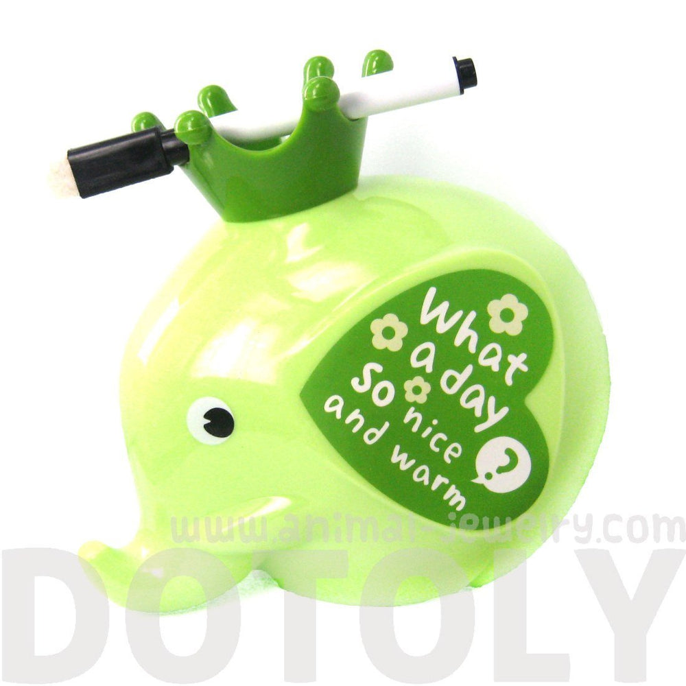 Adorable Elephant Shaped Money Box Piggy Coin Bank in Green | DOTOLY | DOTOLY