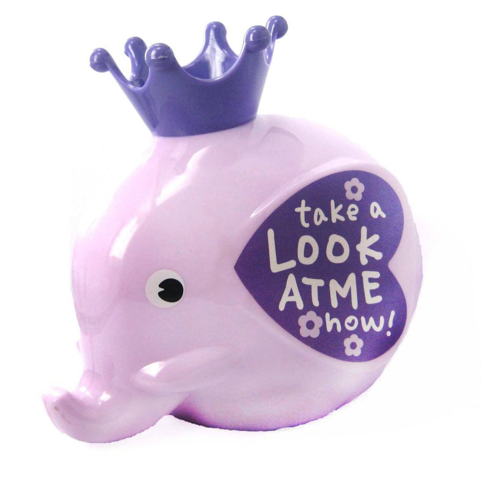 Adorable Elephant Shaped Money Box Piggy Coin Bank in Purple | DOTOLY | DOTOLY