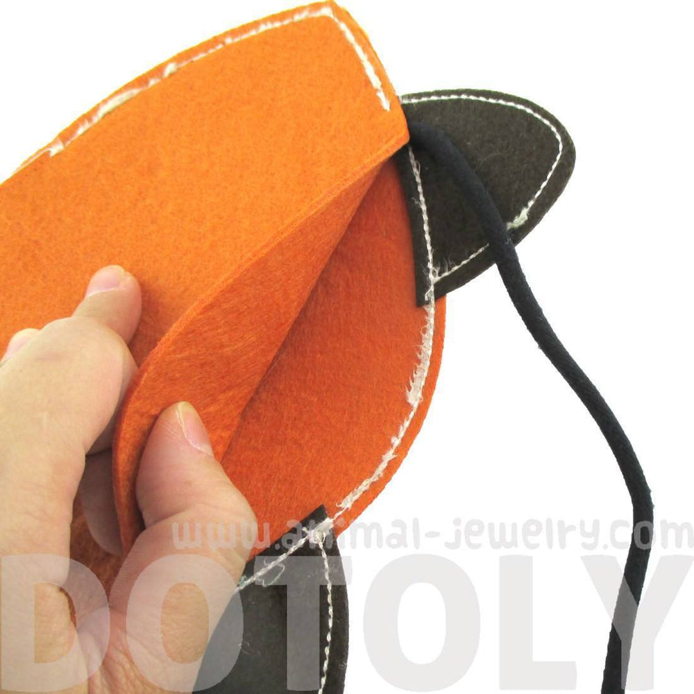 Adorable Fox Wolf Face Shaped Animal Themed Shoulder Felt Bag for Kids in Orange | DOTOLY