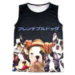 Adorable French Bulldog Photo Graphic Print Oversized Unisex Tank Top | DOTOLY