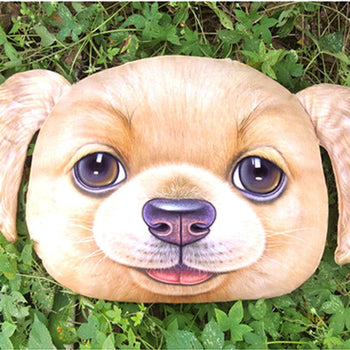 Adorable Golden Retriever Puppy Dog Face Shaped Large Cushion Pillow | DOTOLY