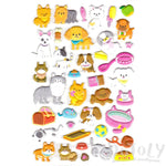 Adorable Kitty Cat and Dog Themed Puffy Stickers for Animal Lovers