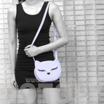 Adorable Kitty Cat Face Shaped Cross Body Bag for Women in Purple | DOTOLY