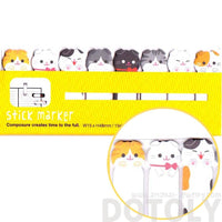 Adorable Kitty Cat Shaped Memo Post-it Bookmark Index Tabs | Animal Themed Stationery | DOTOLY