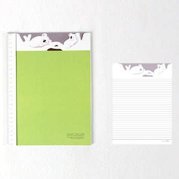 Adorable Koala Bear Patterned Lined Notebook Notepad | Cute School Supplies | DOTOLY
