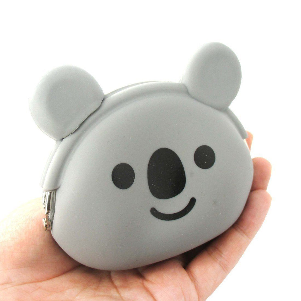 Adorable Koala Bear Shaped Mimi Pochi Animal Friends Silicone Clasp Coin Purse Pouch | DOTOLY