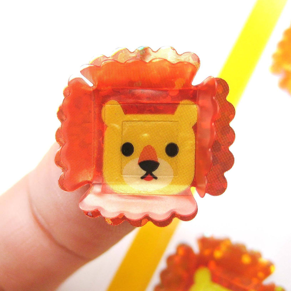 Adorable Lion Shaped 3D Pop-Up Stickers for Scrapbooking and Decorating | DOTOLY