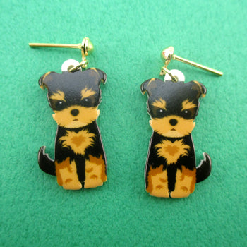 Adorable Norwich Terrier Puppy Shaped Stud Drop Earrings for Dog Lovers