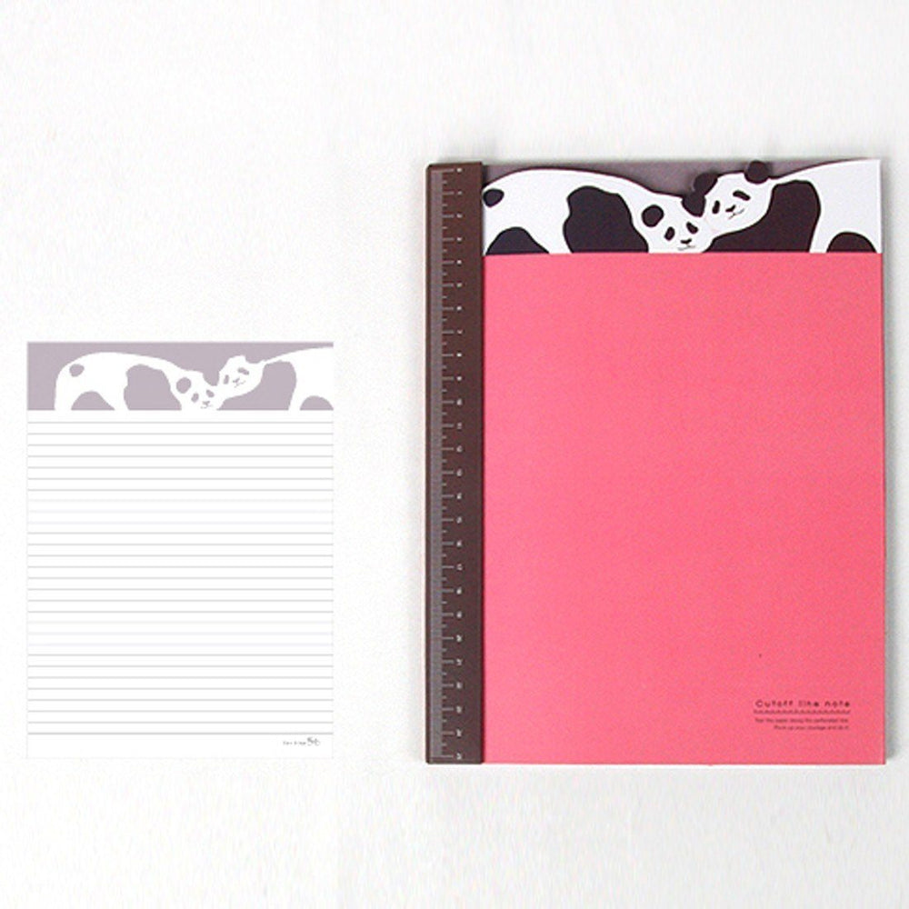 Adorable Panda Bear Patterned Lined Notebook Notepad | Cute School Supplies | DOTOLY