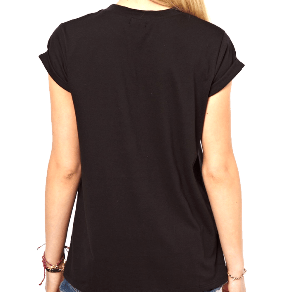 Adorable Penguin Face Animal Print Graphic Tee T-Shirt in Black for Women | DOTOLY