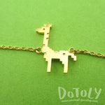 Adorable Pixel Baby Giraffe Shaped Charm Bracelet in Gold | DOTOLY
