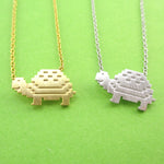 Adorable Pixel Turtle Tortoise Shaped Pendant Necklace | DOTOLY