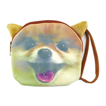 Adorable Pomeranian Face Shaped Clutch Bag | Gifts for Dog Lovers | DOTOLY