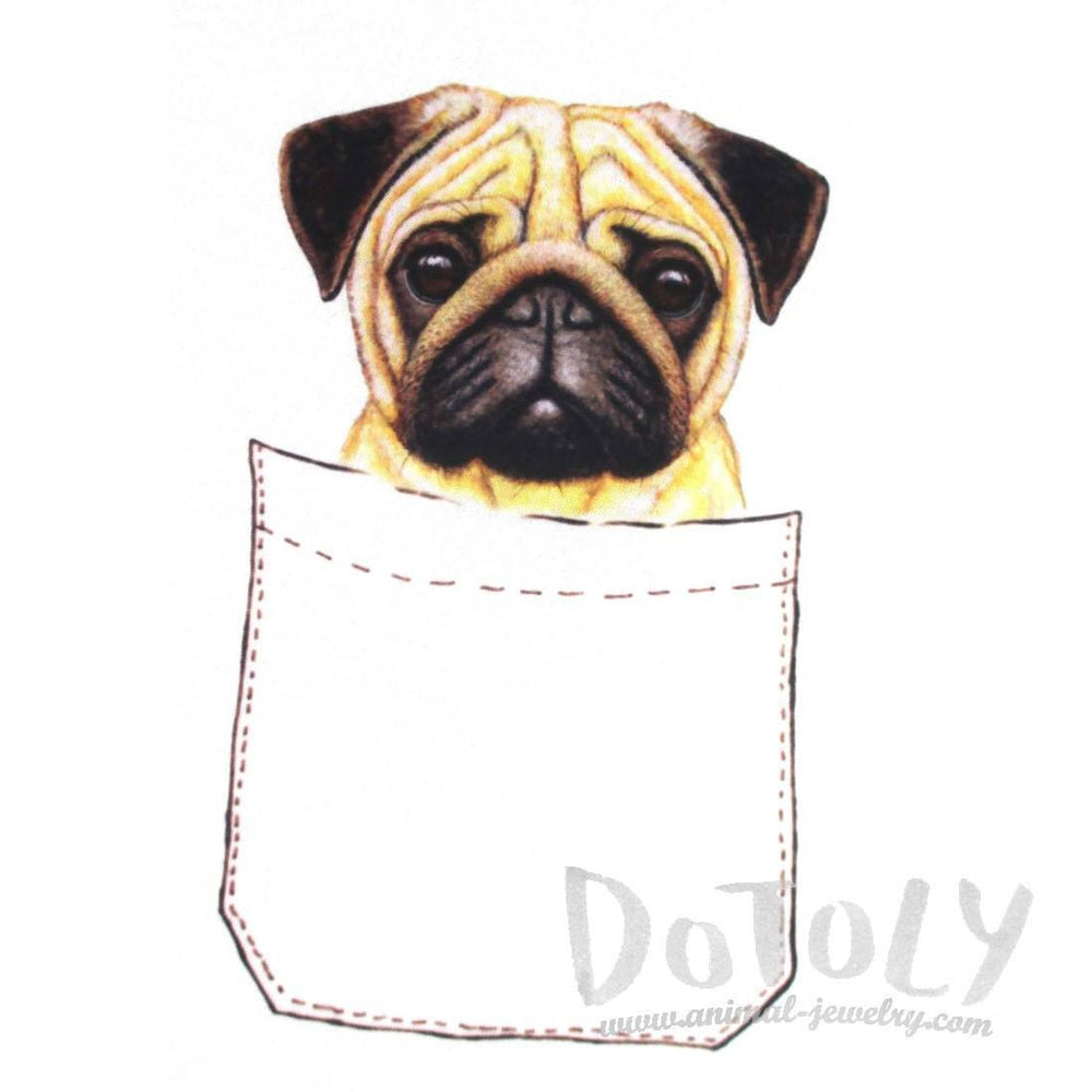 Adorable Pug Puppy in Your Pocket Graphic Print T-Shirt | DOTOLY | DOTOLY