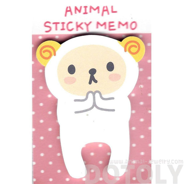 Adorable Ram Sheep Shaped Animal Cartoon Adhesive Post-it Memo Pad | DOTOLY | DOTOLY