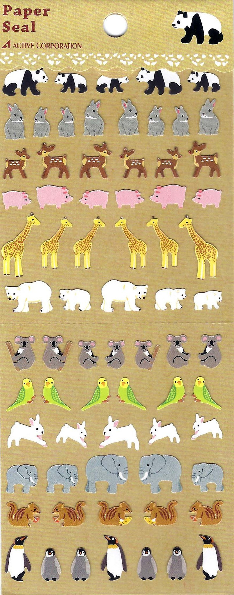 Adorable Realistic Mixed Animal Illustration Stickers for Scrapbooking and Decorating | DOTOLY