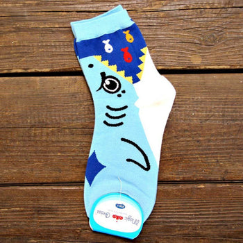 Adorable Shark Bite Socks Animal Shaped Short Cotton Socks for Women | DOTOLY