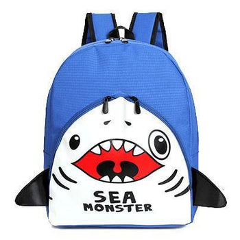 Adorable Shark Sea Monster Shaped Gym Rucksack Backpack in Blue | Shark Week | DOTOLY