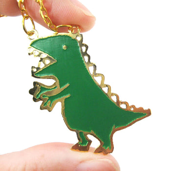 Adorable T-Rex Dinosaur Shaped Animal Pendant Necklace | Limited Edition | DOTOLY