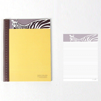Adorable Zebra Patterned Lined Notebook Notepad | Cute School Supplies | DOTOLY