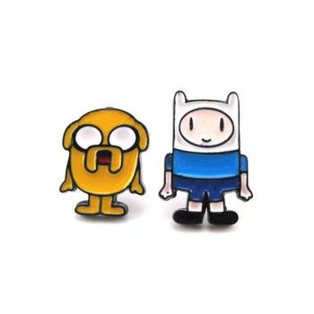Adventure Time Finn and Jake The Dog Shaped Stud Earrings | DOTOLY