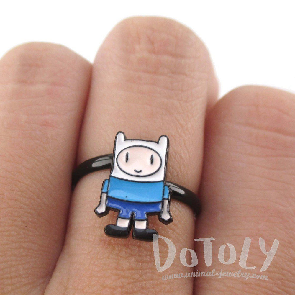 Adventure Time Finn the Human Shaped Adjustable Ring | DOTOLY