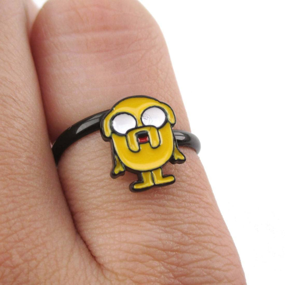 Adventure Time Jake The Dog Shaped Adjustable Ring | DOTOLY