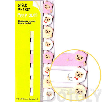 Alpaca Lamb Llama Shaped Peep Out Memo Post-it Sticky Tabs | Animal Themed Stationery | DOTOLY